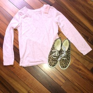 Girls Pink Top w/ Accent Shoulder Bow